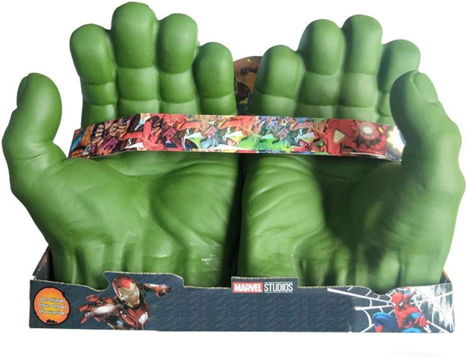 Borstu Hulk Cosplay Gloves Marvel Avengers Gamma Fists Role Play Costume PVC Toys for Children Adult Halloween Christmas