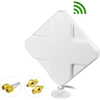 Bingfu High Gain 4G LTE 35dBi Panel MIMO SMA Male TS9 Antenna Compatible with 4G LTE Router Modem MiFi Mobile Hotspot Verizon Jetpack 8800L AC791L LB1120 LB1121 LB2120 M1 MR1100