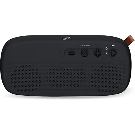 Amazon Com Ilive Water Resistant Wireless Speaker 8 27 X 1 8 X 3 82 Inches Built In Rechargeable Battery Black Isbw249b Home Audio Theater