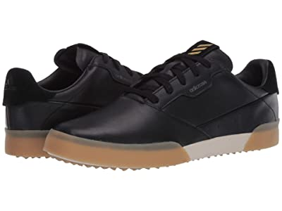 adidas Golf Adicross Retro (Core Black/Gold Metallic/Gum) Men
