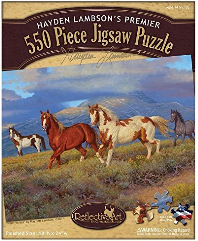 Reflective Art Wild Horses 550-Piece Jigsaw Puzzle Set by Reflective Art Inc