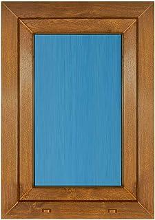 (V19T) Ventana Pvc color Madera 800x1000 Oscilobatiente