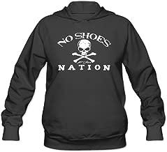 CBOAA Kenny Chesney No Shoes Nation Flag Women's Cotton Hooded Sweatshirt Black