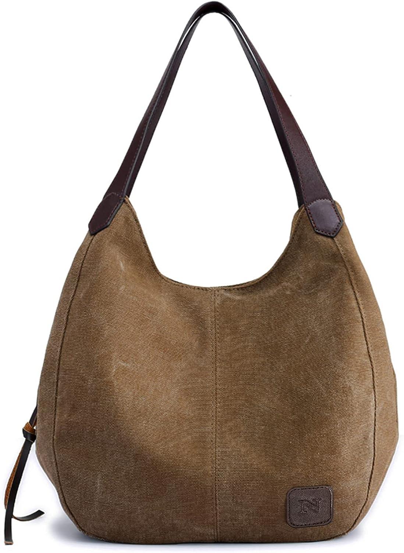 Canvas sling boho purses for women hobo bags Multi-pocket Cotton Casual Handbag