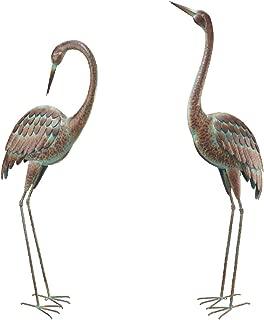 Pair of Large Crane Sculptures ~ Standing & Preening ~