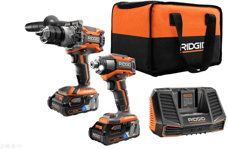 RIDGID 18-Volt OCTANE Lithium-Ion Cordless Combo 40% OFF Cheap Sale Kit Brushless w Super special price
