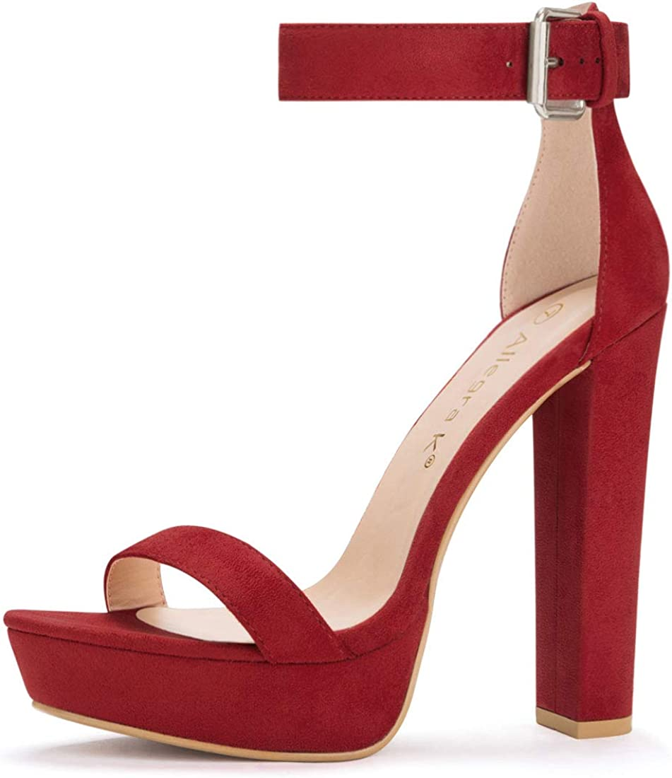 Allegra K Mesa Mall Women's Ankle Platform Heels gift Strap High