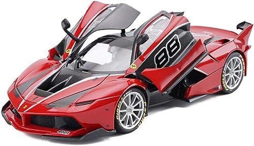 RFJJAL Voiture de modèle, Jouets de Voiture pour Enfants pour Garçons Filles 1 18 échelle Ferrari FXXK Alliage Voiture de modèle Die Cast Cadeaux Miniatures Jeux de Plein air intérieur (Couleur   rouge)