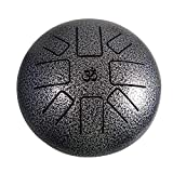 Numeroastro Happy Drum Pan with Rubber Musical Mallet and Travel Bag for Meditation Yoga Zen Sound Healing (10 Inches) (1 Pc)
