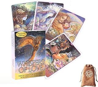 Whispers Of Love Oracle Cards Tarot Cards Vänner Familj Party Spelar Holiday Happy Board Game Presentkort,with bag,Tarot C...
