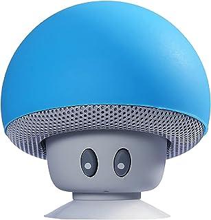 Bluetooth Speaker, Mini Wireless Speaker with 360° Sound, Creative Small Mushroom Shape Multifunctional Bluetooth Speaker, Clear and Loud Sound, Hands-Free Calling (Blau)