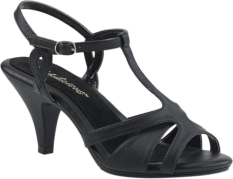 Pleaser BELLE-322 Damen Sandalette, Lederimitat Schwarz, EU 37 (US 7) 7)  zu verkaufen