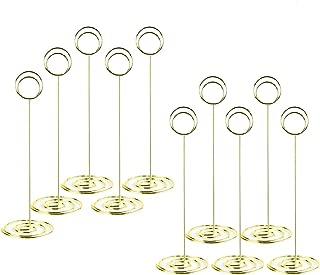 Clips de Mesa de Metal para Nombre FABSELLER Soporte para n/úmero de Mesa Fotos Papel Soporte para Tarjetas de Boda Fotos men/ú 50 Unidades Cartel de Notas