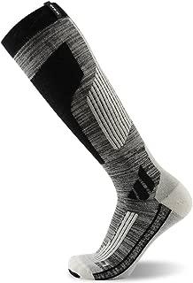 MK MEIKAN Skiing Socks, Merino Wool Thermal Knee High Ski Snowboard Socks for Men and Women