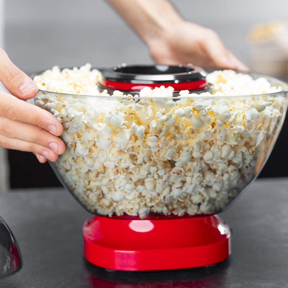 Cecotec Machine /à Pop-corn Fun/&Taste PCorn Easy Design compact 1200 W Bol amovible Syst/ème de cuisson /à l/'air chaud Machine /à pop-corn sans huile qui fonctionne gr/âce /à l/'air chaud