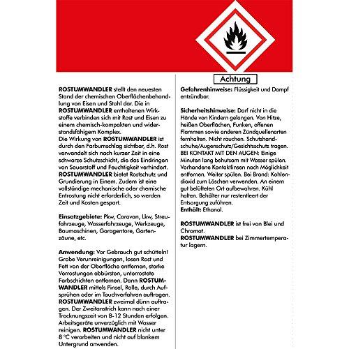 Brestol Rostumwandler 300 ml - Rostkonverter & Grundierung in Einem Zug - Rostschutz Rostlöser