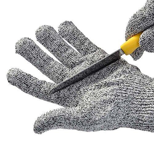 WOWOSS 1 Paar Schnittsichere Handschuhe für Kinder – HPPE Level 5 Schutz, EN-388 Zertifiziert, Lebensmittelecht. Größe : XS (8-12 Jährige)