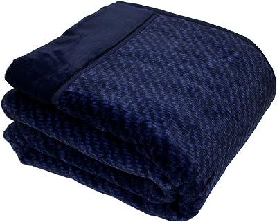 西川リビング 吸湿 発熱 あったか わた入り 毛布 140×200cm シングル PW1765S ネイビー 2024-76586