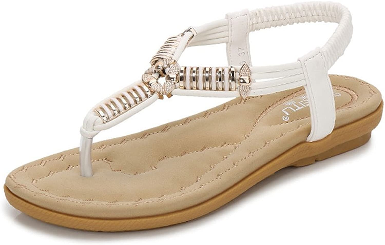 GIY Women's Fashion Sparkly Flat Flip Flops Sandals Comfort Platform Sandal Summer Beach Thong shoes