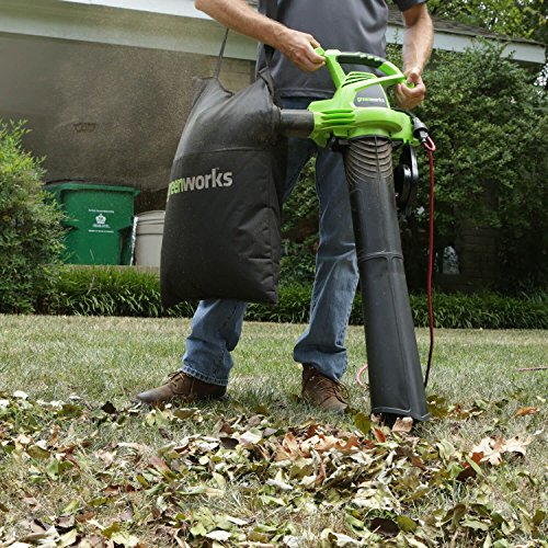 Greenworks 2 Speed 230 MPH Electric Leaf Blower/Vacuum 24022