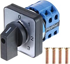 YXQ Cam Changeover Switch 4 Position 8 Terminals 500V Ui 20A Ith Mounting Control Rotary Cam Changeover Switch with Screws