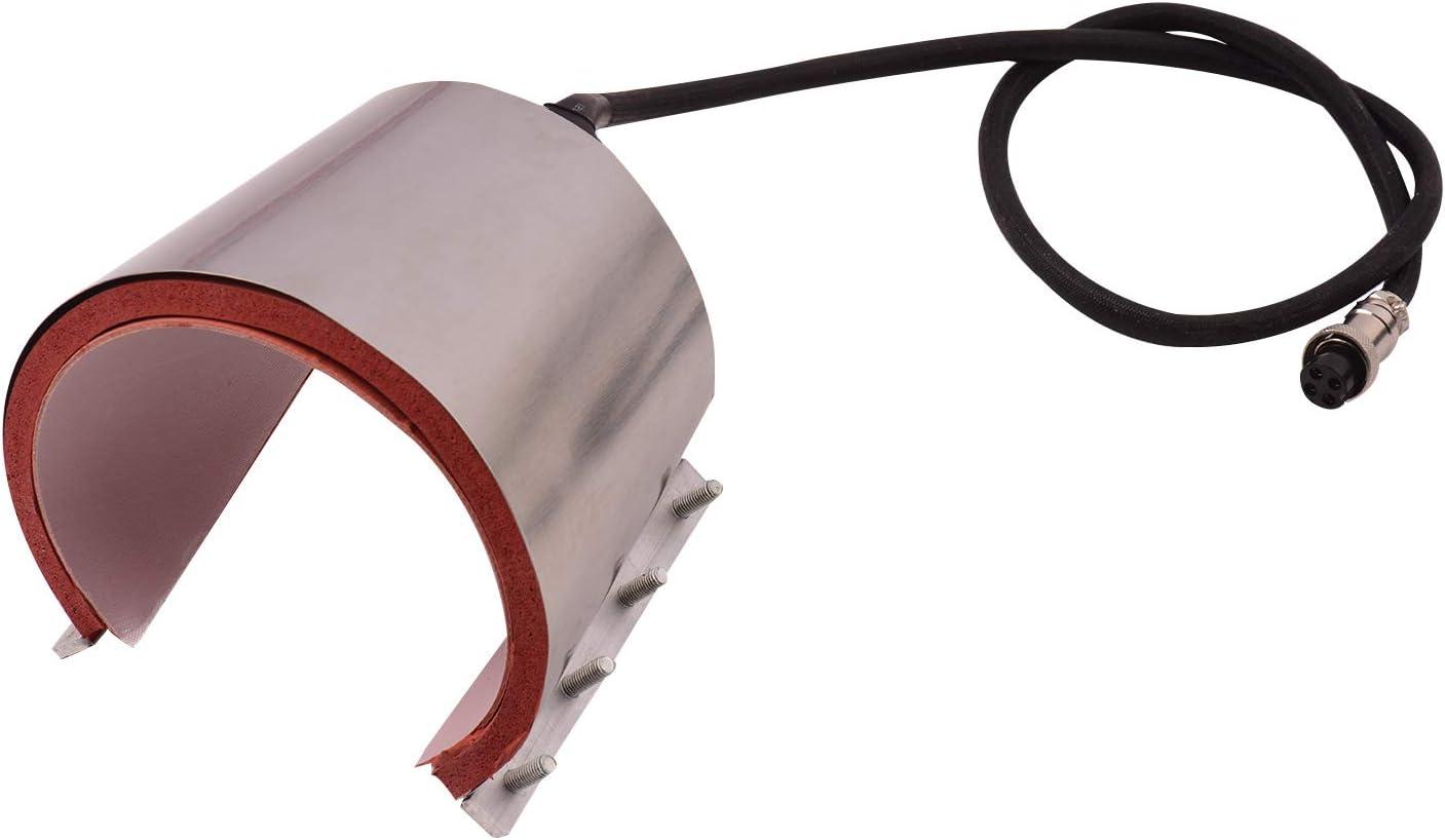 Prensa de tazas,Entweg Taza c/ónica Copa Prensa Accesorio de transferencia de calentamiento Gel de s/ílice 12 oz 110 V para m/áquina de prensa de calor Transferencia de sublimaci/ón