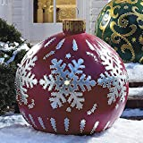 LICIONE Christmas Ornaments 23.6Inch Christmas Balls Outdoor Atmosphere PVC Inflatable Toys for Home Christmas Festive Gift Ball Xmas (B)