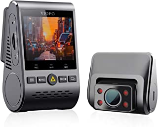 VIOFO 1080P Twin Channel Interior Dash Camera with Buffered Parking Mode and Infrared Lights, Grey (A129 Duo IR)