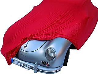 EXCOLO Schutzdecke Stretch Car Cover Ganzgarage Abdeck Plane hochwertig rot 5,80 Mete
