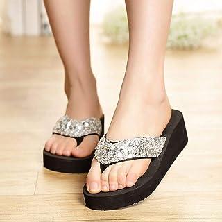 Sequins Women Casual Shoes Beach Slippers Flip Flops Platform Women Wedges Women Sandals Platform Flip Flops Shoes Woman