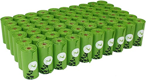 PET N PET Poop Bags Earth-Friendly 1080 Counts 60 Rolls Unscented Poo Bags Large Green Dog Waste Bags 9 x 13 inches