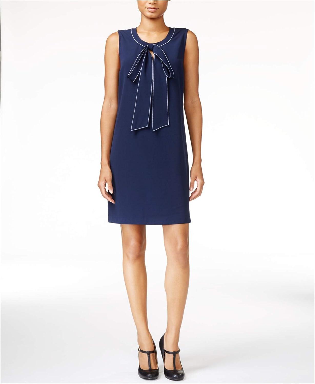 Maison Jules Womens Bow Detail Shift Dress
