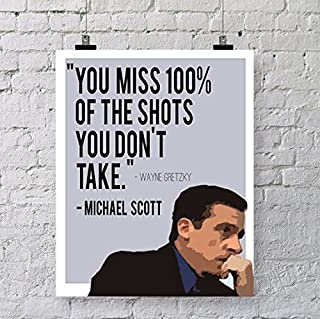 Michael Scott's (Quotes 17) Get Motivated's Poster 12 x 18