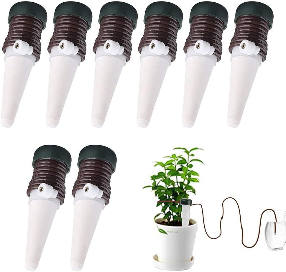 Automatic Plant - Kit de riego automático para plantas (8 unidades, para interiores y exteriores, cerámica)