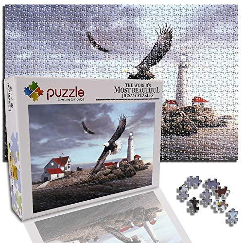GFSJJ 1000 Piezas Puzzle Juego Casa Torre De Vigilancia Halcón Puzle para Niño Infantiles Adolescentes Adultos Niños Navidad Juguetes (52 X 38 Cm)