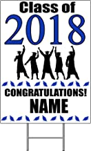 2018 GRADUATION BLUE YARD SIGN (1 EACH) by Partypro