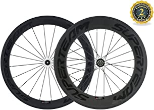 Superteam 23mm Wheel Front 60mm Rear 88mm Carbon Clincher Wheelset with Powerway R36 Hub