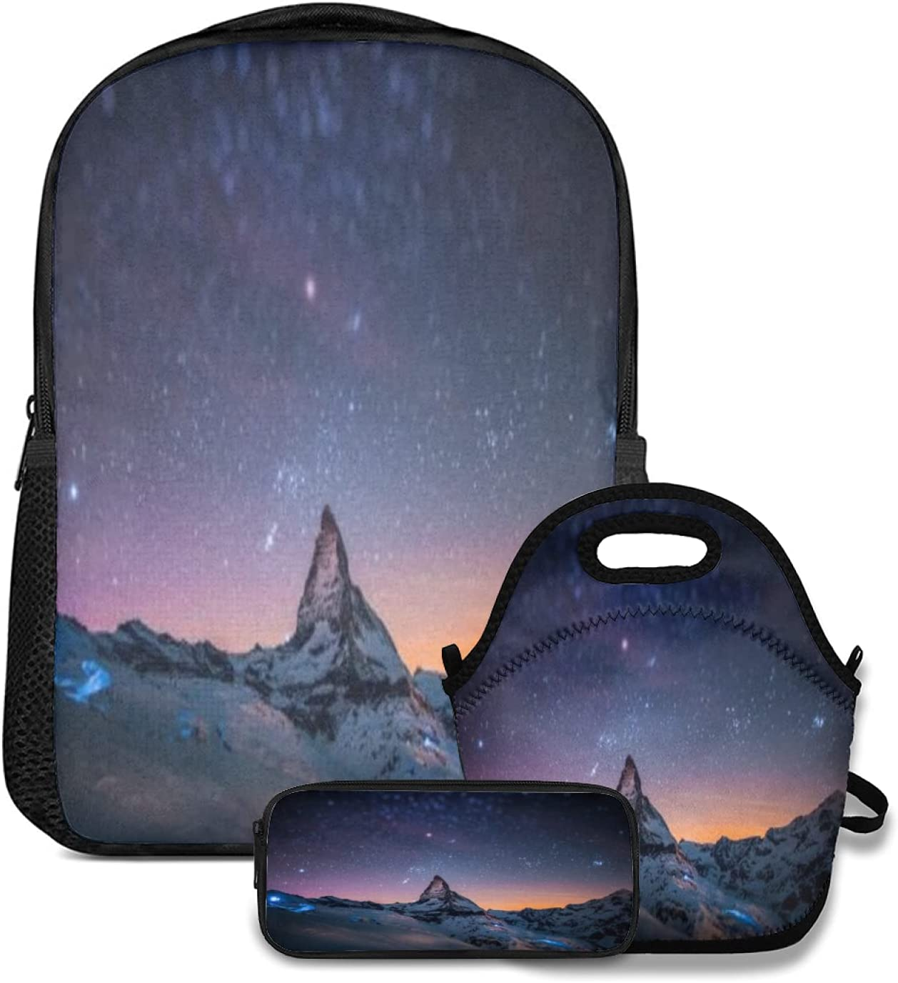 Backpack Lunch tote Bag and price Pencil Night Case Starry List price 3pc set Sky