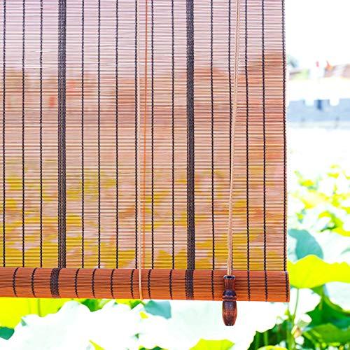 Estores Enrollables Cortina Exterior Enrollable para Puerta y Ventana, Rústico de Estilo Japonés Persiana de Bambú con Herrajes, Balcón Patio Pérgola, Filtrado de Luz (Size : 65x160 cm/25.6x63 in)