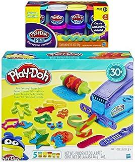 PD Play-Doh Fun Factory Super Set + Play-Doh Plus Compound Bundle