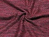 Minerva Crafts Boucle Tweed Schwerer Kleiderstoff, Pink,