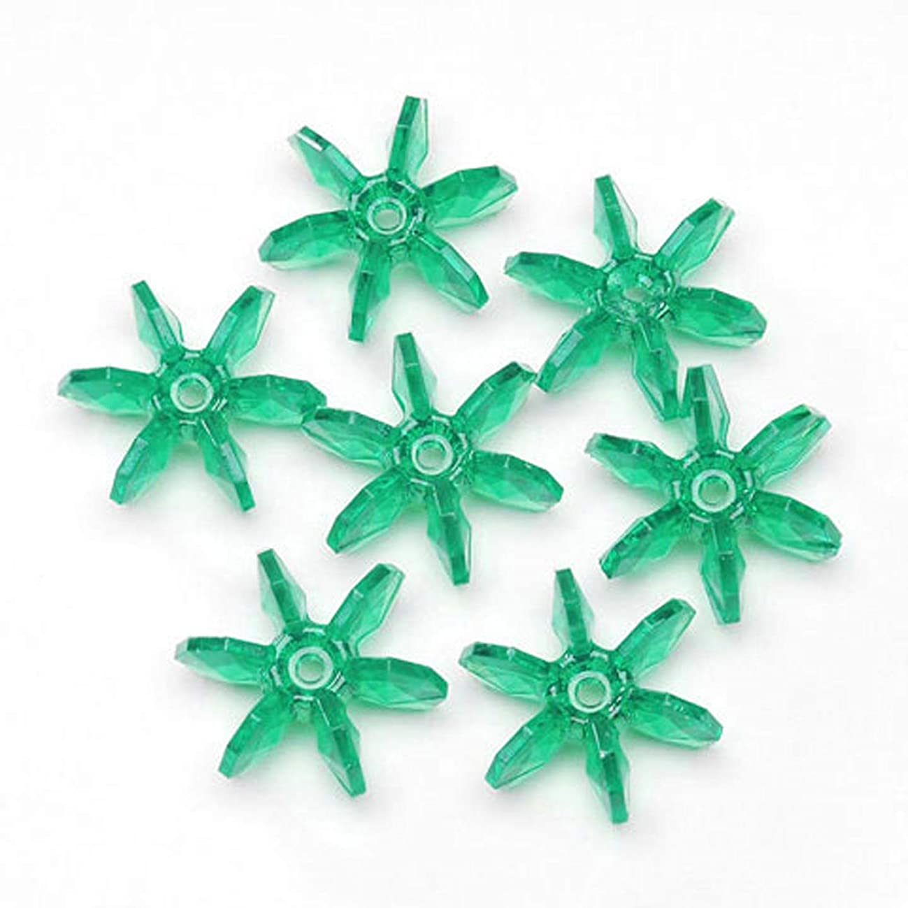 Bulk Buy: Darice DIY Crafts Starflake Beads Transparent Christmas Green 10mm 1000 pieces (1-Pack) 06507-7-T12