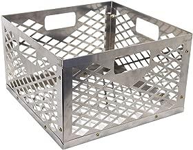 Blissun Charcoal Basket, Firebox Basket, Smoker Pit, Silver