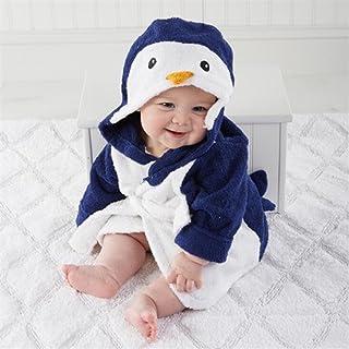 739a4f365c460 BaBaSM Élégant Enfants Kid Garçon Fille Coton Pingouin Forme À Capuche  Bande Dessinée Peignoir Couverture Plage