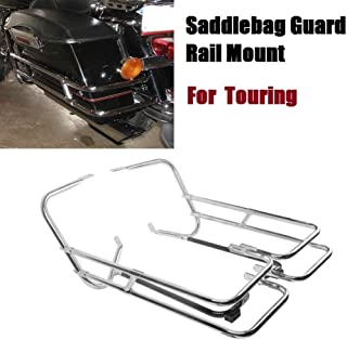 XKMT Black Saddlebag Support Bracket for 2009-2013 Harley-Davidson Touring Road King Electra Glide