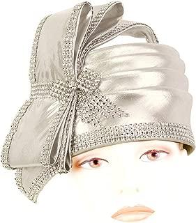 Ms Divine Women's Metallic Pillbox Church Hats Dress Formal Hats #L06