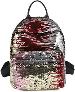 Hamkaw Girls Reversible Sequins School Backpack Teens Great Gift Fashion Students Magic Glitter Lightweight Travel Bag