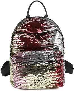 Hamkaw Girls Reversible Sequins School Backpack Teens Great Gift Fashion Students Magic Glitter Lightweight Travel Bag