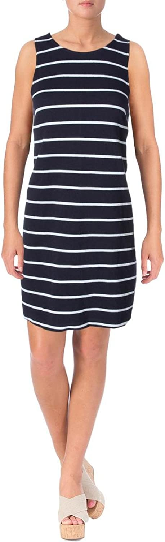 Maison Jules Womens Striped Shift Dress