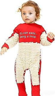 Eternali Baby Wischmop Strampler Lustig Kreativ Baby Kleidung Reinigungsmop Overall Kleinkind Jumpsuit Mopp Strampler Schneeanzüge Polituren Fußböden Reinigung Mop Schlafstrampler Kinder Spielanzug